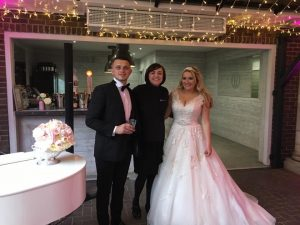 Liz Hendry with Mr and Mrs Shaw